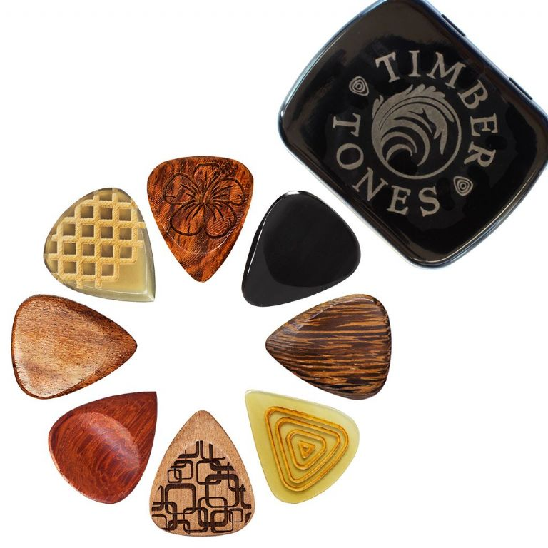 Single Pick Timber Tones Stub Tones Guitar Pick Black Horn